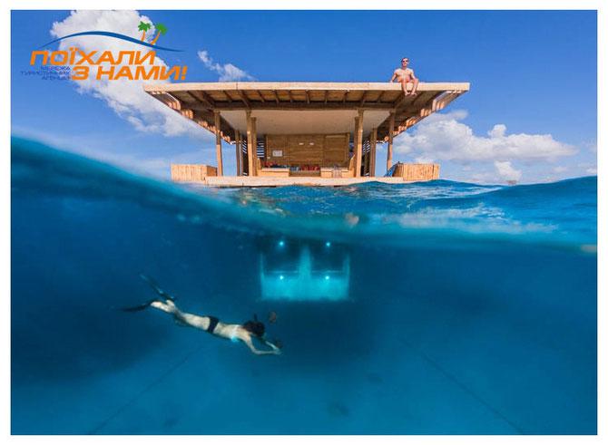 Підводний номер в готелі Manta Resort
