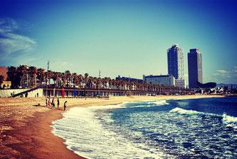 Пляж в Барселоні