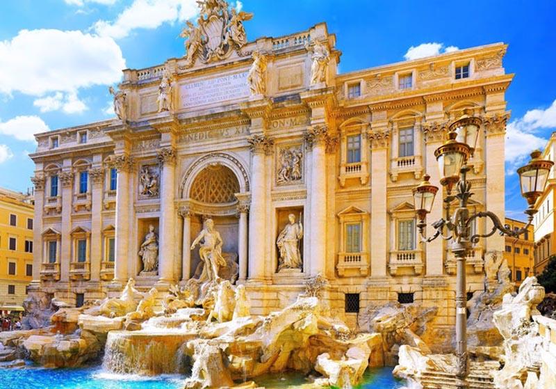 Фонтан Треві біля палацу Палаццо-Полі, Рим