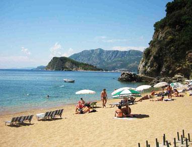 Чорногорії з пляжів один в