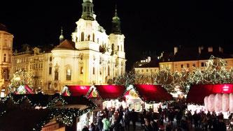 Прага різдвяний вечір